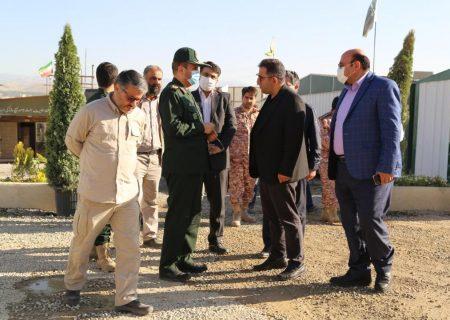 بازدید سردار عابدینخرم، فرمانده سپاه عاشورا از شهرک در حال ساخت طلاییه تبریز