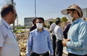 بازدید دکتر رسول جانی از پروژه روگذر شهید سلیمانی شهرستان میانه