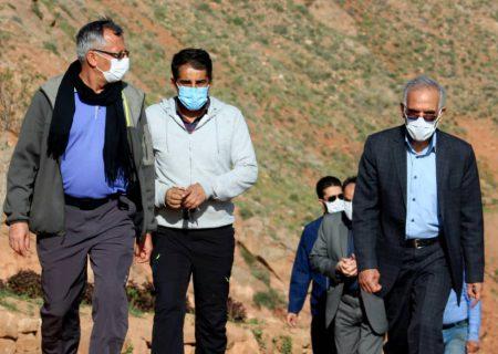 بازدید دکتر رحمتی از عملیات اجرایی آمفی تئاتر روباز عون بن علی